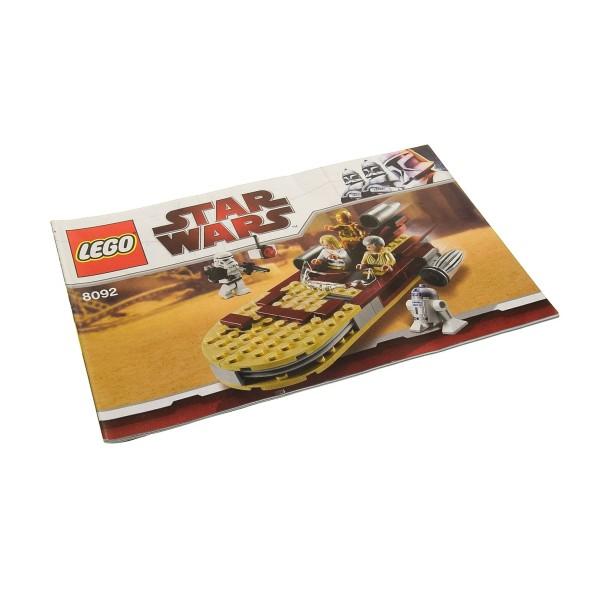 1 x Lego System Bauanleitung A5 für Set Star Wars Episode 4/5/6 Luke's Landspeeder 8092