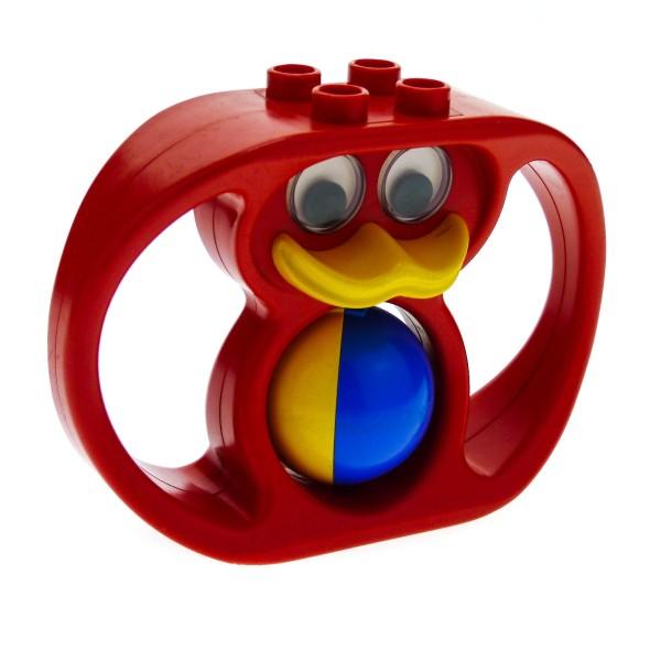 1 x Lego Duplo Primo Tier Rassel rot Baby Ente Klapper Ball blau gelb Baustein x1188cx1