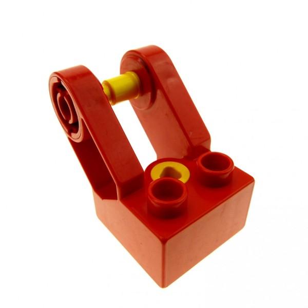 1 x Lego Duplo Toolo Stein rot 2x2 Arm Baustein Verbindung Verbinder Winkelform 6284c01