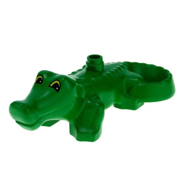 1 x Lego Duplo Tier Krokodil grün Alligator Reptil Zoo Zirkus Tierpark Safari 2284pb01