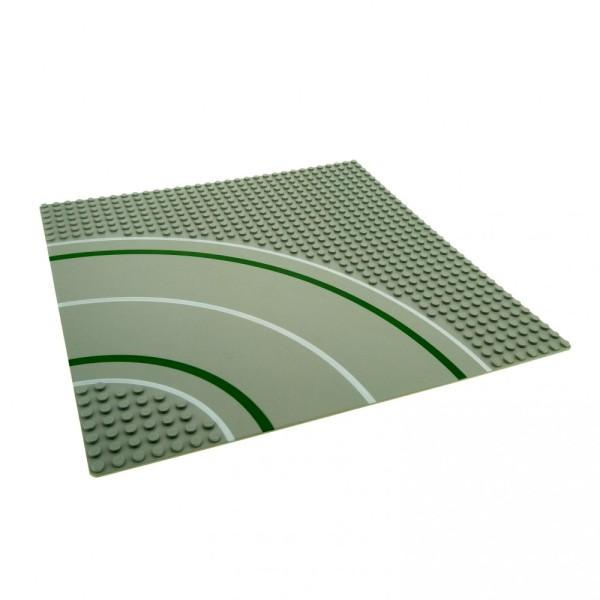 1 x Lego System Bau Platte Kurve 7N alt-hell grau 32 x 32 Noppen 32x32 viertel Kreis Strasse Straßenplatte für Set 9360 9354 2359p01