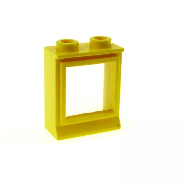 1 x Lego System Fenster Rahmen gelb transparent weiss 1 x 2 x 2 Zug Eisenbahn Haus Fenster Waggon 7026