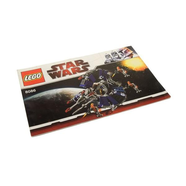 1 x Lego System Bauanleitung A5 für Set Star Wars Clone Wars Droid Tri-Fighter 8086