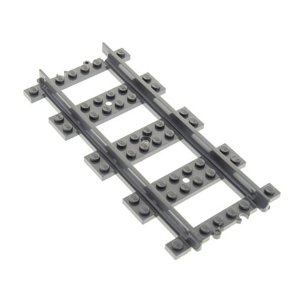 1 x Lego System Schiene neu-dunkel grau gerade Eisenbahn Schienen Zug RC Train Gleis 60052 4279714 53401