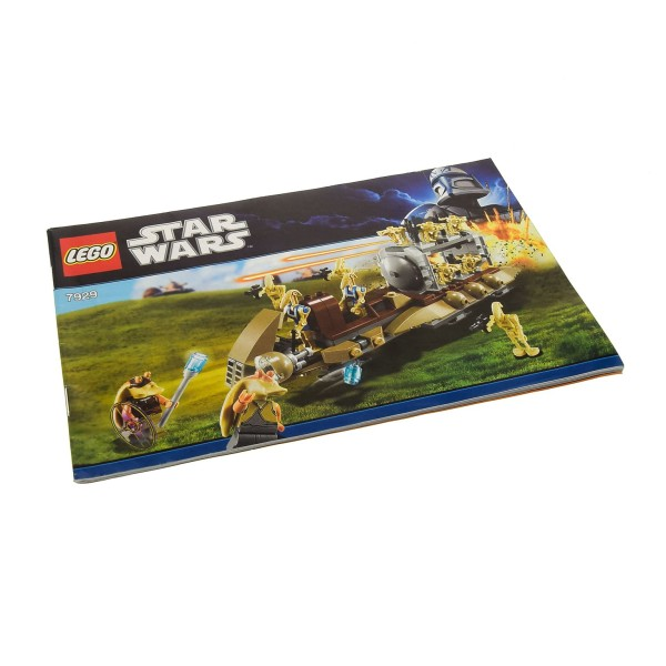 1 x Lego System Bauanleitung A5 für Star Wars Episode 1 The Battle of Naboo 7929