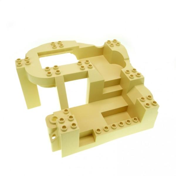 1 x Lego Duplo 3D Bau Platte beige tan 14x16x8 groß Typ1 Felsen Steinbruch Baustelle Zoo Dino Welt 5653 4960 4278578 31384