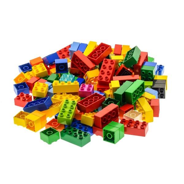 130 Teile bzw. 1 kg Lego Duplo Steine 100 x 4er 3437 2x2 Noppen und 30 x 8er 2x4 3011 31459 Noppen Kiloware bunt gemischt