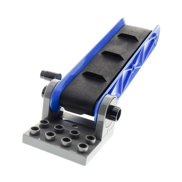 1 X Lego Duplo Förderband Typ2 Blau Platte Gedreht Neu