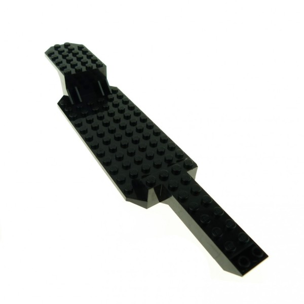 1 x Lego System LKW Auflieger schwarz 6x26x2 2/3 Chassis Unterbau Fahrgestell Trailer Grund Platte Tieflader 30184
