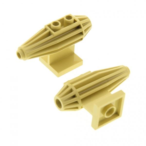 2 x Lego System Turbine beige tan Triebwerk 2x2 Boden Platte für Star Wars Düse Landspeeder 7110 30358