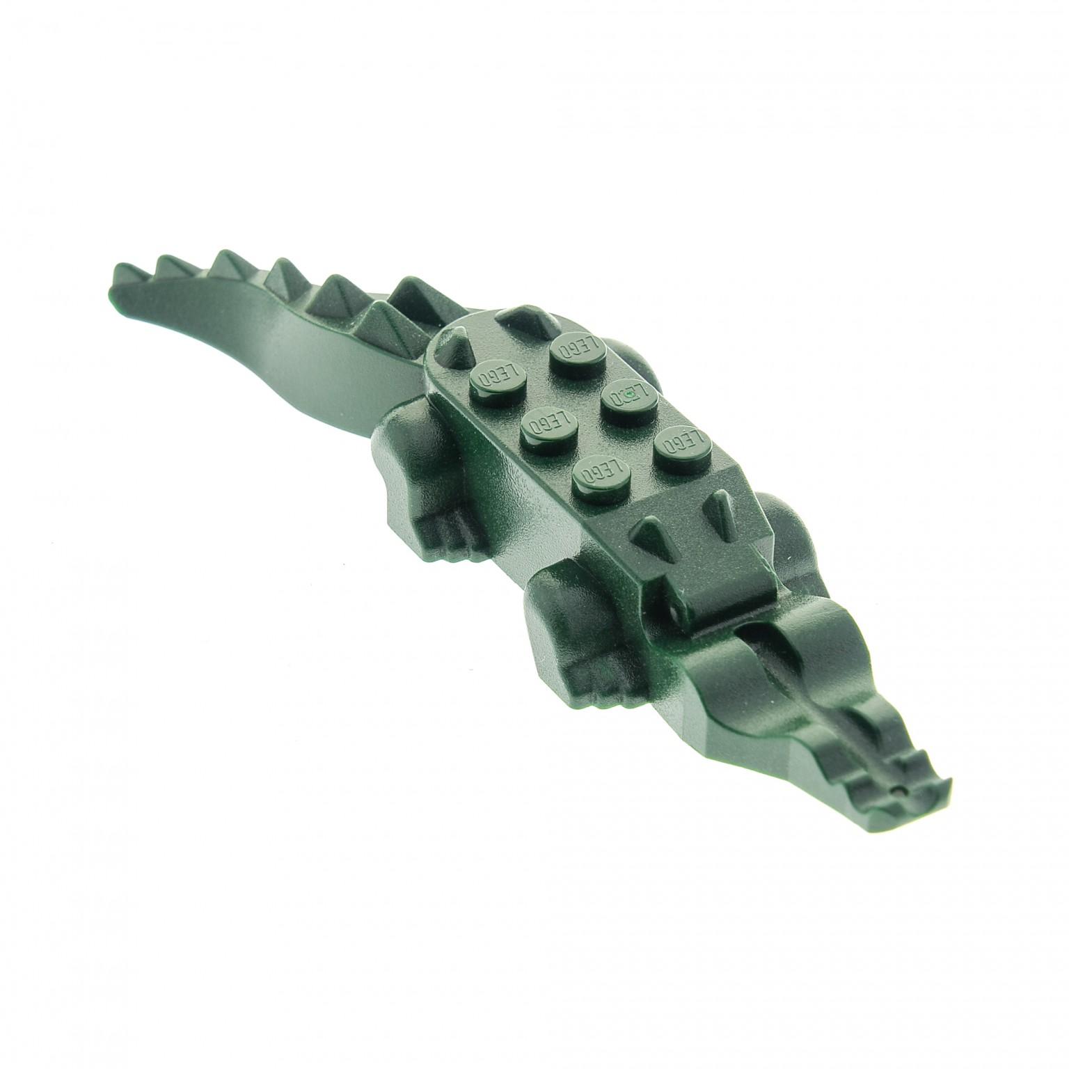 Lego Dark Green Alligator Crocodile Dragon Dinosaur Tail 6028 Replacement Part