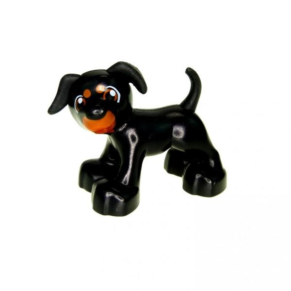 1x Lego Duplo Tier Hund schwarz braun Bauernhof Zoo Zirkus 4518549 1396pb02