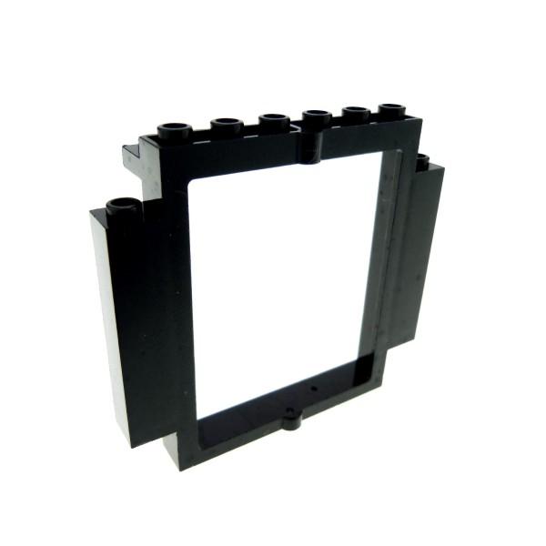 1 x Lego System Tür Rahmen schwarz 2x8x6 Castle Drehtür Burg Fenster Rahmen mit Boden Ausschnitt 30101