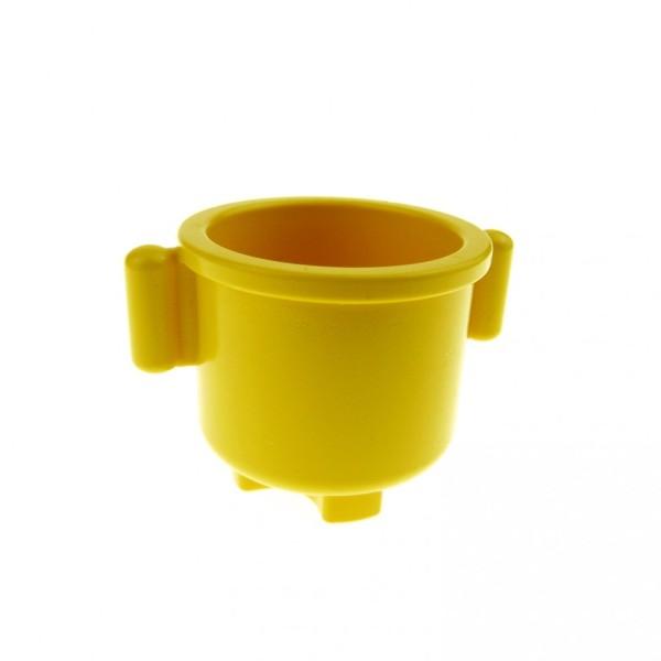 1 x Lego Duplo Geschirr Topf gelb 2 x 2 x 1.5 mit Henkel Küche Möbel Puppenhaus Zubehör 31042