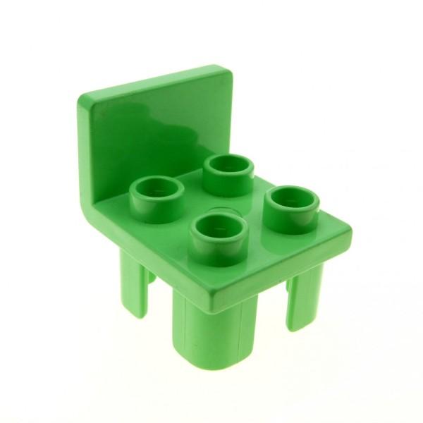 1 x Lego Duplo Möbel Stuhl medium hell grün 4 Noppe Sitz Stühle Küche Wohnzimmer Schlafzimmer Puppenhaus 647829 6478