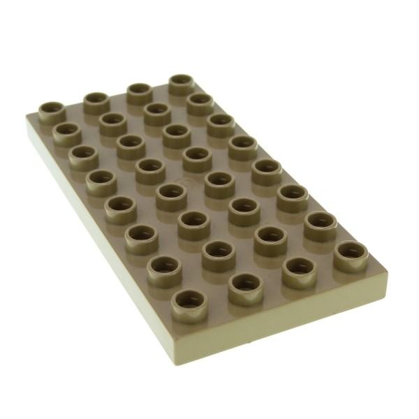 1 x Lego Duplo Bau Platte 4 x 8 dunkel beige tan 8 x 4 Noppen 4x8 für Set Eisenbahn Zirkus 5593 3772 5598 4960 3289 5544 4255053 10199 4672