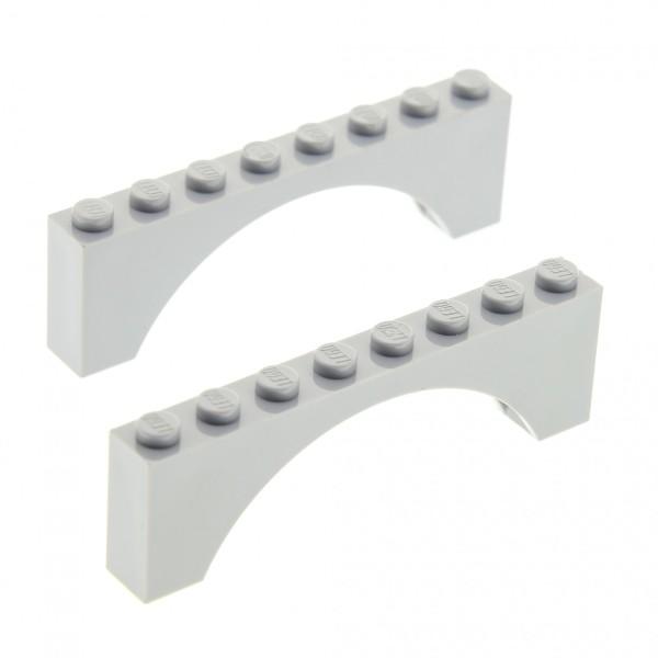 LEGO 2 x Brückenstein Bogen 6108  rotbraun  1x12x3