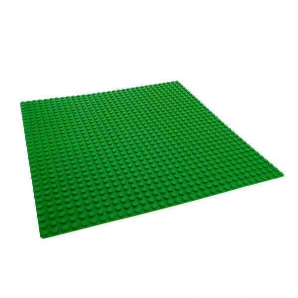 1 x Lego System Bau Grund Basic Platte grün 32 x 32 Noppen 32x32 Wiese City Rasen 381128 3811