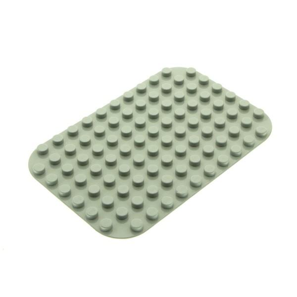 1x Lego Duplo Platte alt-hell grau 8x12 abgerundete Ecken Set 2781 31043
