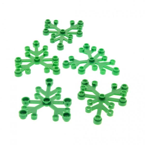 5 x Lego System Pflanze grün 6 x 5 Blatt Blätter Laub Busch Strauch Leaves 2417