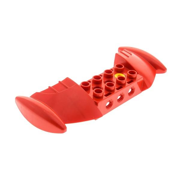 1 x Lego Duplo Toolo Stein Flügel Tragfläche rot Wings mit Schraube für Set 9206 9203 45117c01