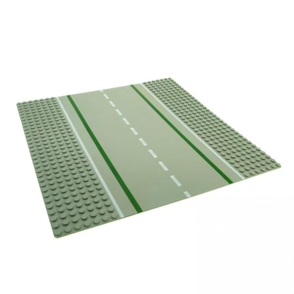 1 x Lego System Bau Platte 32x32 Straße gerade 7N alt-hell grau 32 x 32 Noppen 2358 80547pb01