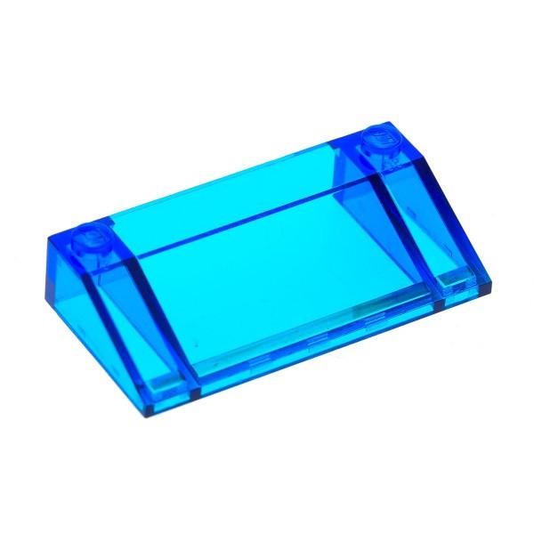 1 x Lego System Windschutzscheibe transparent dunkel blau 3x6 (mit innen Wand) Auto Kanzel Cockpit Fenster Schräg Stein 3939