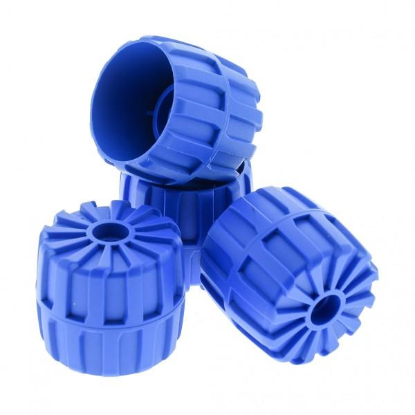 4 x Lego System Hart Plastik Rad blau 35 mm D. x 31 mm Medium Räder Auto Fahrzeug für Set 6977 6837 6919 2593