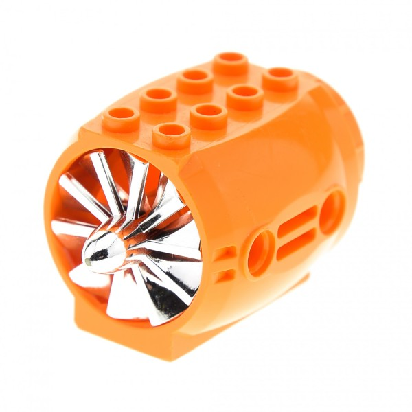 1 x Lego Technic Düse orange mit Propeller chrome silber Turbine Triebwerk Star Wars Flugzeug U - Boot Technik 43121 x577