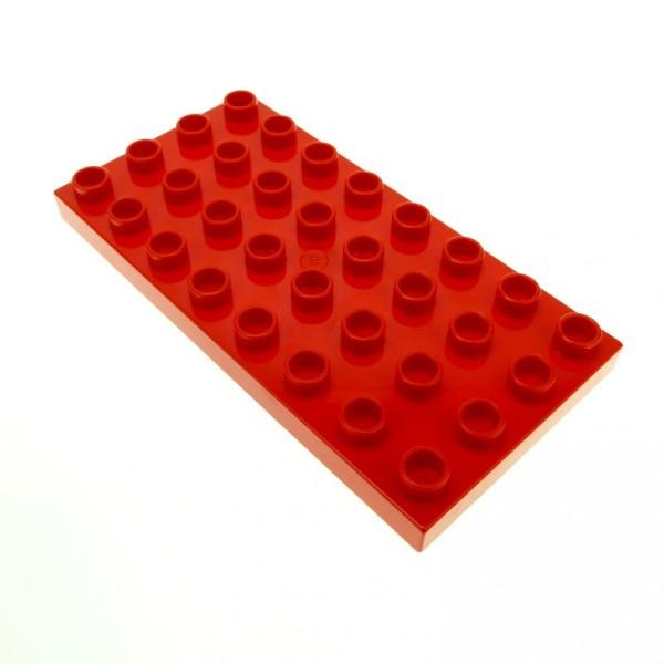 1 x Lego Duplo Bau Platte 4 x 8 rot Basic 8 x 4 Noppen 4x8 für Set Puppenhaus Eisenbahn 9156 1045 2732 2936 5946 2670 5815 4583743 10199 4672