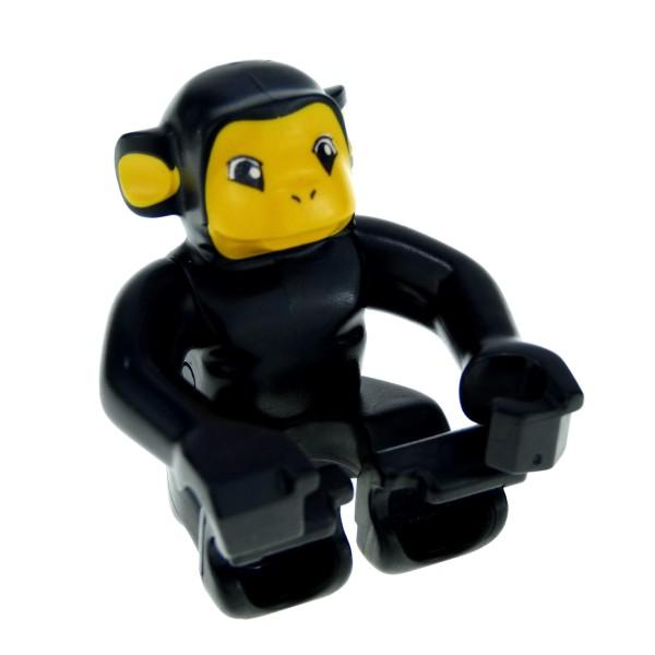 1 x Lego Duplo Tier Affe schwarz Gesicht hell orange Zoo Zirkus Schimpanse Tierpark Monkey 4283022 2281px2