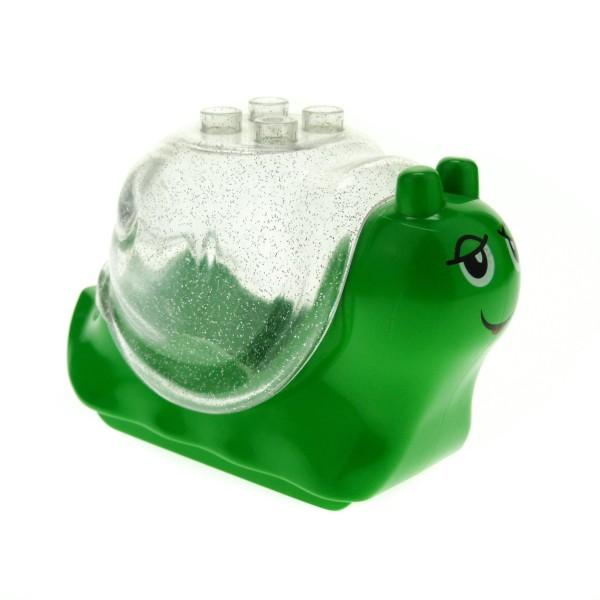 1 x Lego Duplo Tier Schnecke bright hell grün Haus transparent Glitzer weiß Primo Baby Baustein Set 9129 2830 31230 31229pb01