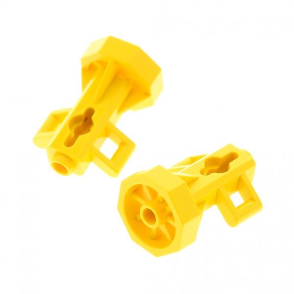 2 x Lego System Scooter gelb Figur Zubehör Düse Antrieb für Unterwasser Welt Taucher Set 6441 6559 6560 30092
