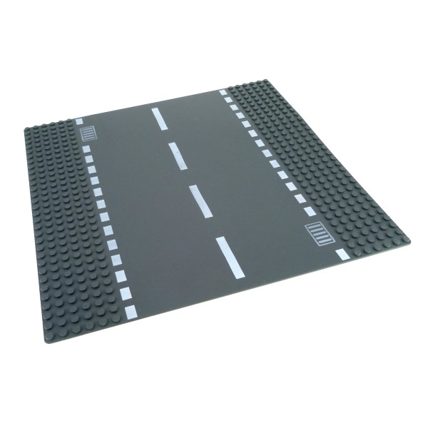 1 x Lego System Bau Platte 6N Straße gerade neu-dunkel grau 32 x 32 Noppen 32x32 mit Kanal Abfluss Gullys 7280 4277471 44336px4
