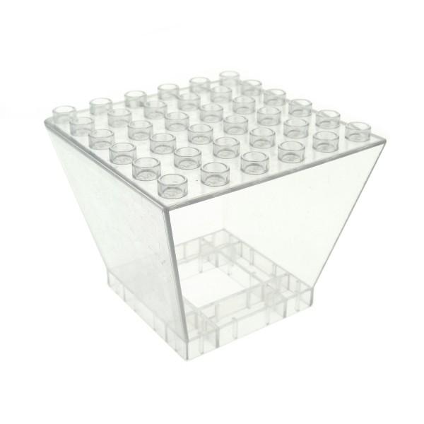 1 x Lego Duplo Fenster B-Ware abgenutzt transparent weiß Tower Zentrale Flughafen Eisenbahn Feuerwehr 5595 6361