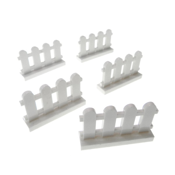 5 x Lego System Zaun weiß 1x4x2 Garten Latten Zäune Gatter 33303