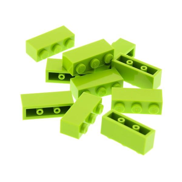 10 x Lego System Bau Stein lime grün 1x3 Basis Set 70922 45210 41150 75234 10715 4166093 3622