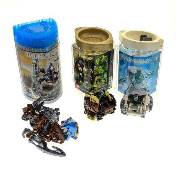 3 x Lego Bionicle Figuren Set Modelle Technic 8617 Vahki Zadakh 8575 Kohrak-Kal 8560 Pahrak OVP Boxen Dosen incomplete unvollständig