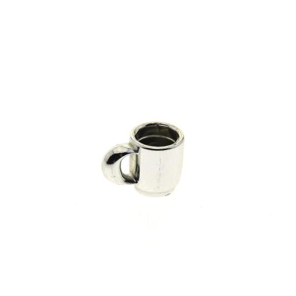 1 x Lego System Geschirr Tasse chrome silber Scala Figuren Cup 33054