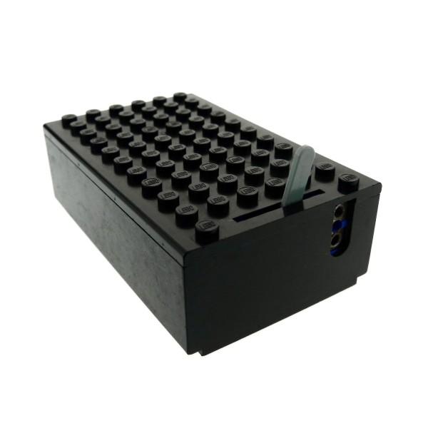1 x Lego System Elektrik Batteriekasten Box 4.5V schwarz 6x11x3 1/3 Type2 Deckel flach mit 1-Prong & 2-Prong Hebel grau geprüft bb45c02