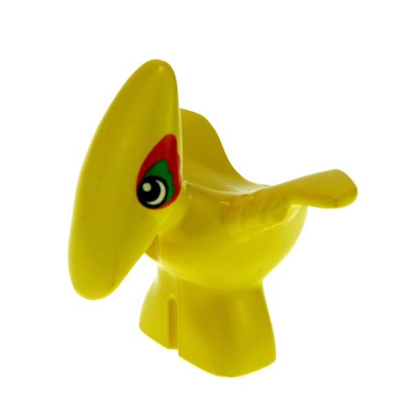 1 x Lego Duplo Tier Pteranodon Baby gelb um das Auge rot und grün Flug Dinosaurier Steinzeit Dino Welt 31056px1