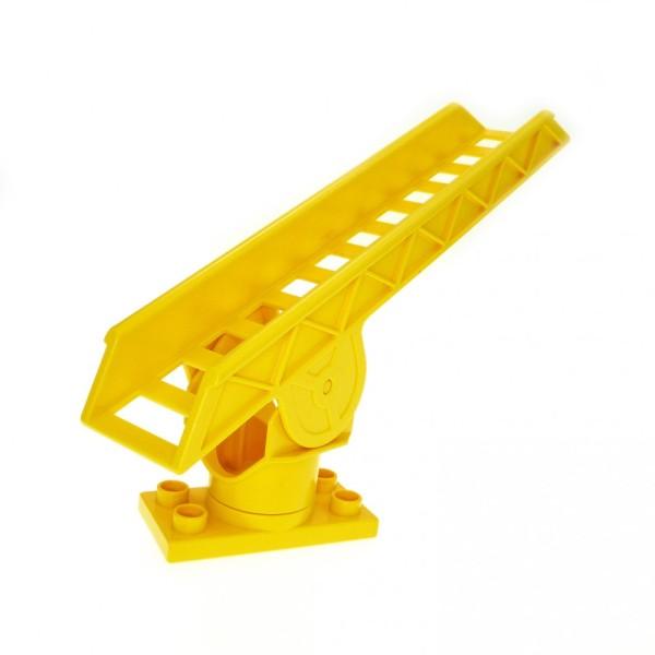 1 x Lego Duplo Leiter gelb Drehleiter Feuerwehr Treppe Auto Kran Dreh Platte 2691 4567c02 2033c01