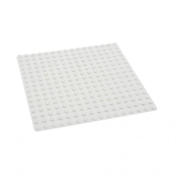 1 x Lego System Bau Platte weiss 16x16 Noppen weiß 16 x 16 Schnee für Set 6575 3538 6098 3867