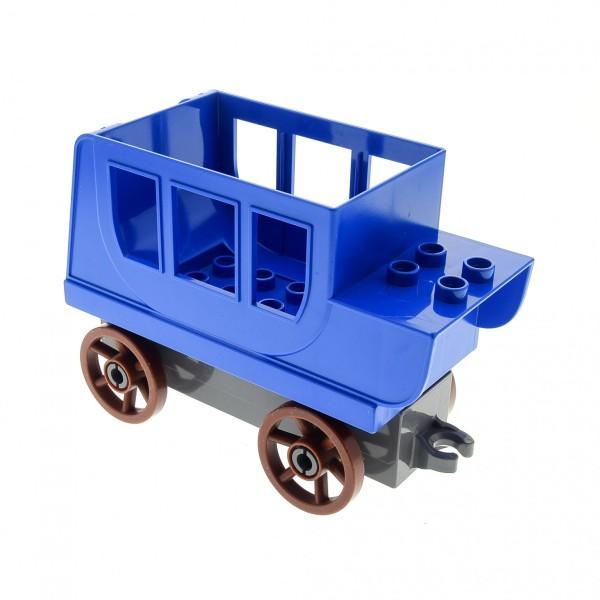 1 x Lego Duplo Kutsche blau Pferdekutsche Base Stein 2x8x1 neu-dunkel grau Räder Speichen gross reddish rot braun Set 4862 31176 31174c04