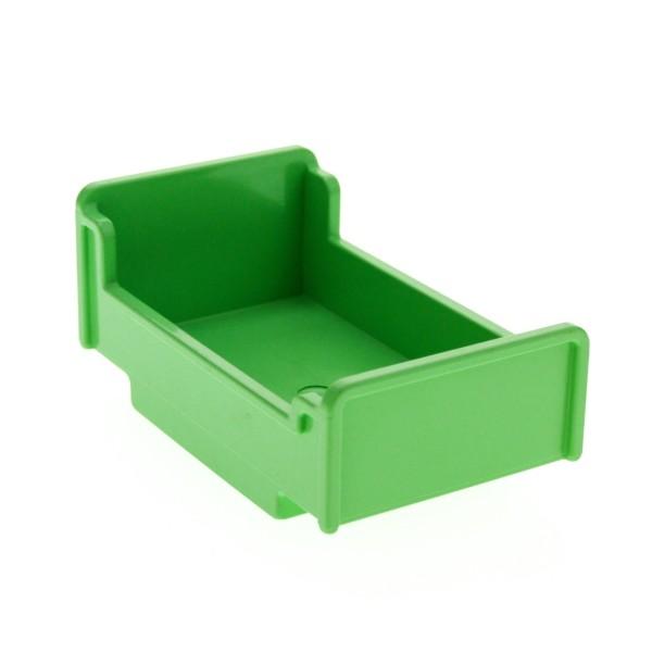 1 x Lego Duplo Möbel Bett medium hell grün 3x5x1 2/3 Schlafzimmer Puppenhaus für Set 9180 9168 76338 4895