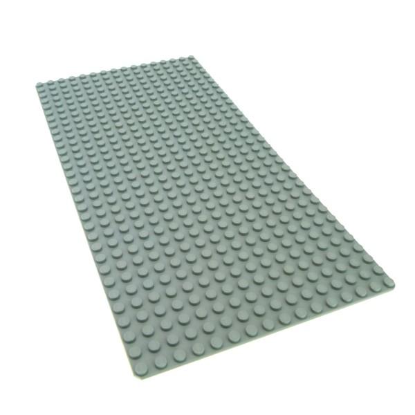 1 x Lego System Bau Basic Grund Platte alt-hell grau flach 32 x 16 Noppen 16x32 Strasse Beton Futuron Mindstorm Train 3857 274802 2748