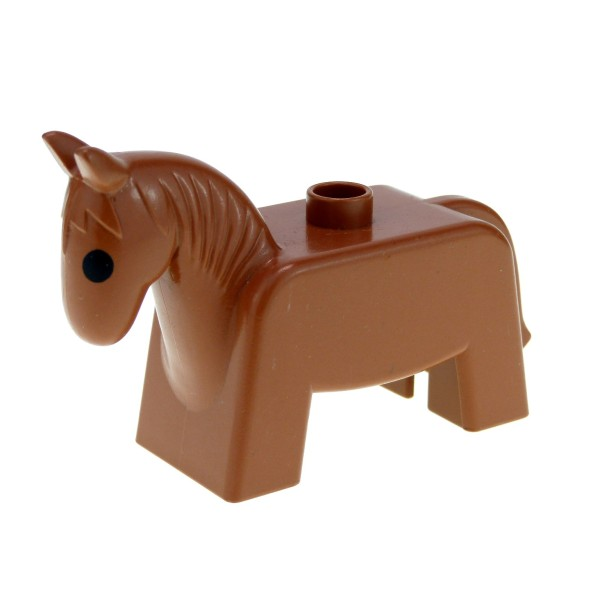 1 x Lego Duplo Tier Pferd Fabuland braun Stute Hengst Esel Muli Zoo Zirkus Bauernhof 4009pb01