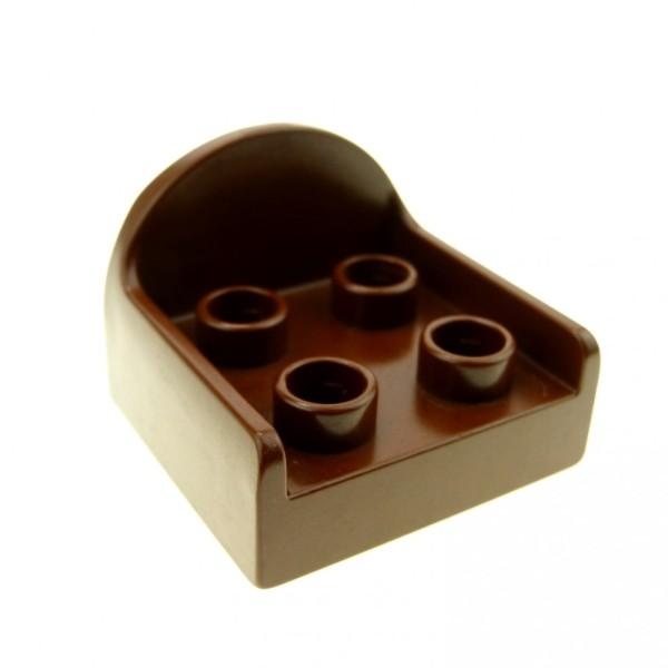 1 x Lego Duplo Sessel braun Stuhl runde Rücken Lehne Sitz Wohnzimmer Schlafzimmer Puppenhaus Möbel Dino Set 2604 9194 9195 31065