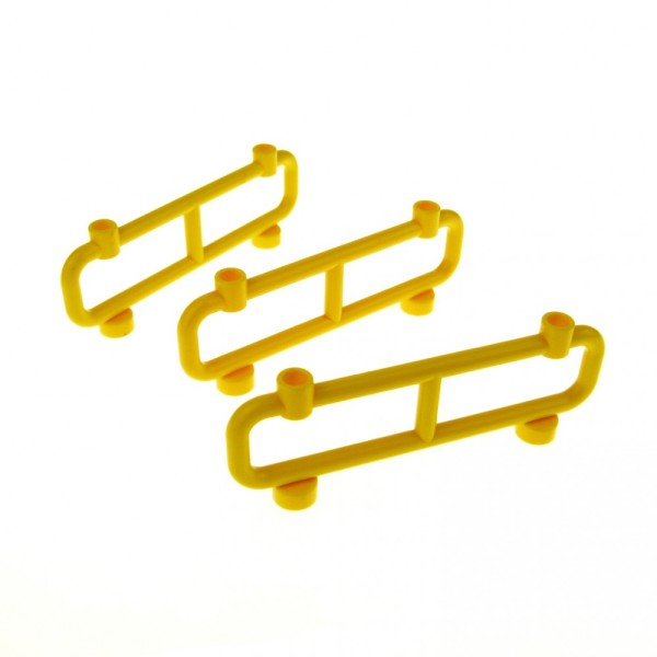 3 x Lego System Zaun gelb 1 x 8 x 2 Gatter Gitter Geländer Zäune Absperrung fence 2486