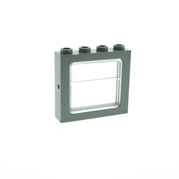 1 x Lego System Fenster Rahmen alt-hell grau Scheibe transparent weiss 1 x 4 x 3 Zug Eisenbahn Haus Waggon Lok train 4034 4033